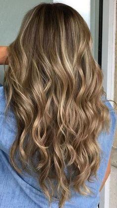 braune Haare mit blonden Reflexen helle Dimension