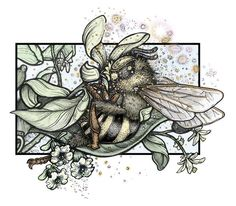 Bee Pollinating - Beehive Design Collective Store