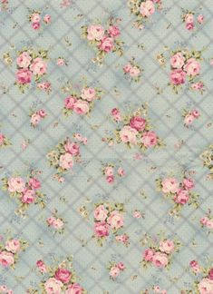 Fabric that's vintage shabby Shabby Chic Paper, Shabby Chic Pink, Vintage Shabby Chic, Vintage Flowers, Vintage Diy, Vintage Paper, Vintage Images, French Vintage, Background Vintage