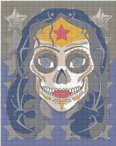 Wonder Woman sugar skull graphgan
