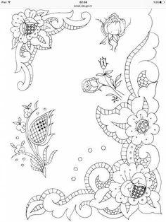 vintage transfer patterns for embroideryvintage modern hand embroidery patterns Crewel Embroidery Kits, Embroidery Transfers, Embroidery Patterns Free, Hand Embroidery Designs, Vintage Embroidery, Floral Embroidery, Machine Embroidery, Border Embroidery, Flower Patterns