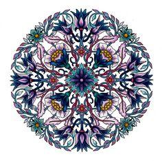 Mandala by CYNTHIA EMERLYE Coloring by Harold Suttles. - Pinned by The Mystic's Emporium on Etsy Mandala Coloring Pages, Colouring Pages, Coloring Books, Mandala Pattern, Pattern Art, Arabesque, Circle Art, Colouring Techniques, Yin Yang