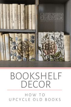 Look no further for a fabulous DIY bookshelf decor idea! So many ways to customize this book craft project to match your home decor style with IOD Transfers and Stamps. Diy Projects To Try, Craft Projects, Craft Ideas, Book Crafts, Fun Crafts, Vintage Home Accessories, Diy Cans, Iron Orchid Designs, Dollar Store Crafts