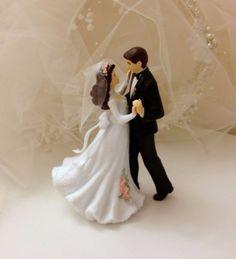 Cake topper / figurine de gâteau de mariage romantique
