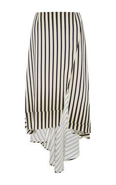 Geometric Stripe Asymmetrical Skirt by Peter Som for Preorder on Moda Operandi