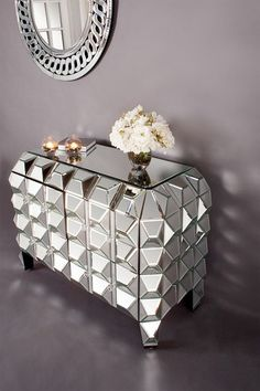 Spike Mirrored Chest IN LOVE with this gaga, I can only assume, inspired furniture by Statements By J