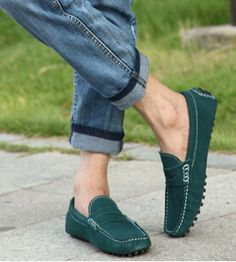 2014 Men Loafer ShoesGommini Trendy  solid breathable  Slip-on  Loafers Vintage Style Men Casual Shoes Free Shipping A00206 $44.40