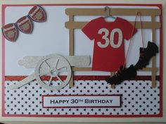 Handmade card (Male football Arsenal)(2)