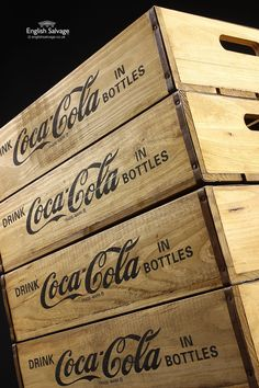 New Vintage Style Coca Cola Storage Boxes