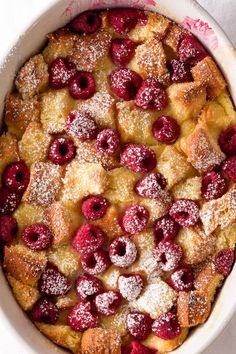 Great for holiday breakfasts: Citrus and Raspberry Brioche Bread Pudding via forkknifeswoon.com | @forkknifeswoon