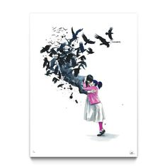 Goodbye - Limited Edition Print by Lora Zombie - Available Exclusively at Eyes On Walls