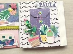 true colors scrapbook Scrapbook Designs, Mini Scrapbook Albums, Scrapbook Paper Crafts, Scrapbooking Layouts, Scrapbook Cards, Mini Albums Scrap, Envelope Art, Crate Paper, Scrapbook Embellishments