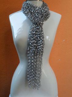 cachecol em trico fio mosaico www.facebook.com/artesdairis?fref=nf