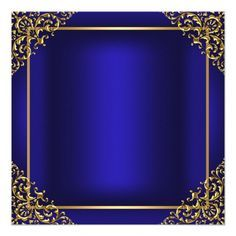 Gold & Blue Gem Tiara Quinceanera Invitation Vectors Obtain