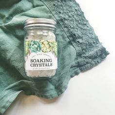 Soaking Crystals  Grapefruit by TheWildSprout on Etsy