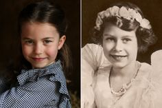 Princess Charlotte Is Still Great-Grandmother Queen Elizabeth's Adorable Mini-Me — Here's Proof! Elizabeth Queen Of England, Queen Elizabeth Ii, Prince William Family, Prince William And Kate, Celebrity Babies, Celebrity Photos, Celebrity Style, Royal Princess, Princess Diana