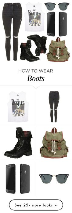 """Sin título #1487"" by annaniicolle on Polyvore featuring Topshop, Wet Seal, Soda and Ray-Ban"