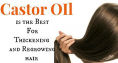 Castor Oil is the Best For Thickening and Regrowing hair, Eyelashes and Eyebrows
