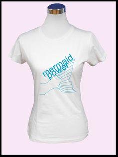 d6fbbd58b3d9 Damen T-Shirt - mermaid power Der perfekte Begleiter für die warme  Jahreszeit. Das