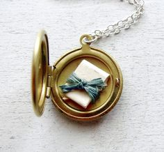Personalized Locket  Message Locket  by TheDedicationCompany, $39.00