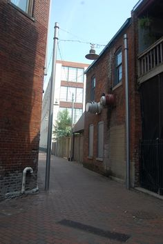 This is another alley discovery I made downtown in the Mass Ave. area. I remember when i first walked down this alleyway it transported me to another place and I didn't even feel like I was in Indianapolis anymore.