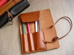 roll leather pencil case