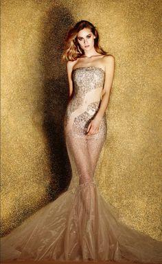 golden fab. Azzaro Couture Spring 2014 capsule.
