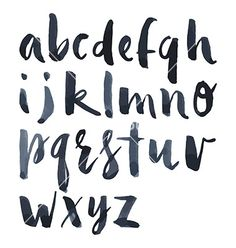 Watercolor alphabet vector letters - by Karma3 on VectorStock®