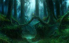 Fantasy Forest Wood Wallpaper Fantasy forest Magical forest Fantasy landscape