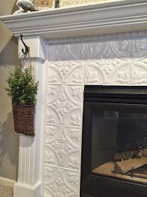 Naughton your life: Fireplace Makeover with Tin Tile