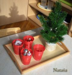 An invitation to decorate the Christmas tree - Montessori activity for preschoolers.