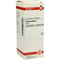 VISCUM ALBUM Urtinktur:   Packungsinhalt: 50 ml Dilution PZN: 02128307 Hersteller: DHU-Arzneimittel GmbH & Co. KG Preis: 14,28 EUR inkl.…