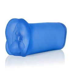 Apollo Dual Density Stroker Blue. Ultimate stroker mimics the feel of the real thing. Textured dual density chamber for unparalleled sensations. Closed end for superior suction and an explosive finish. Safe and pure for body and pleasure made using phthalate free materials Thermoplastic Rubber TPR. Bulk weight 13.8 ounces. 6.5 inches by 3.5 inches.