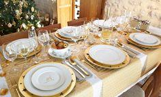 Sky   Table de noël dorée - Décoration - Noël - Déco - Maison - Alinéa