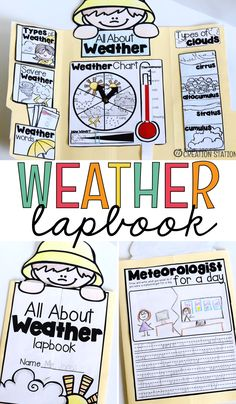 Interactive Lapbooks for the School Year - Mrs. Preschool Science, Elementary Science, Science Classroom, Teaching Science, Science For Kids, Science Activities, Elementary Schools, Science Labs, Weather Activities