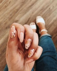 Stylish Nails, Trendy Nails, Perfect Nails, Gorgeous Nails, Cute Acrylic Nails, Cute Nails, Minimalist Nails, Oval Nails, Dream Nails