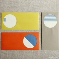 Drop Around Shape Window Envelope+Card Set of 3 | UGUiSU Online Store