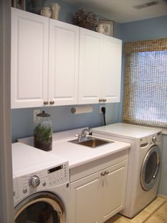 blue-walls basement   Laundry Room - Other Space Designs - Decorating Ideas - HGTV Rate My ...