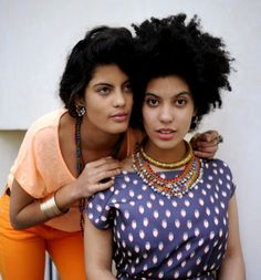 Cuban-French twin sisters Lisa-Kaïndé and Naomi Diaz. Makers of the band Ibeyi.