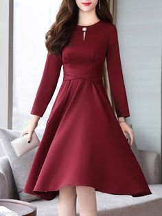 Stylish Dresses, Simple Dresses, Pretty Dresses, Casual Dresses, Dresses For Work, Frock Fashion, Fashion Dresses, Cheap Skater Dresses, Indian Gowns Dresses