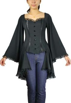 Plus Size Black Gothic Bat Wing Flared Bustier Corset Top [60450] - $49.95 : Mystic Crypt, the most unique, hard to find items at ghoulishly great prices!