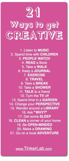 21 ways to get creative - Are You Creative Do You Consider Yourself Creative