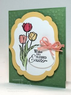 blessed easter, stampin up easter card ideas, 2014 occasions catalog, 2014 sale-a-bration - http://stampwithkriss.com/blessed-easter