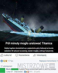 Demotywatory.pl Wtf Funny, Funny Memes, Hilarious, Jokes, Polish Memes, Komodo Dragon, Series Movies, Man Humor, Titanic