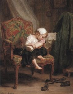 Mom playing by Pierre Edouard Frère