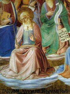 BEATO ANGELICO e BENOZZO GOZZOLI - Vela dei Sedici profeti, dettaglio - affresco - 1447 - Cappella di San Brizio, Cattedrale di Orvieto