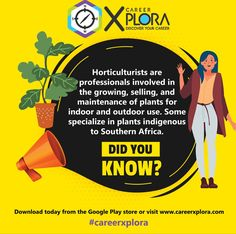 Download the CareerXplora App to explore your study options after school! 😃 #horticulture #careerhelp #careerguidance #careerxplora #studyoptions Career Help, After School, Horticulture, Discover Yourself, Did You Know, Study, App, Explore, Studio