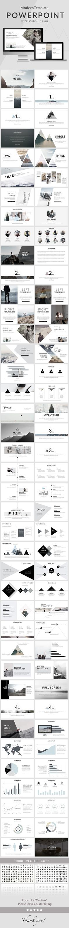 Nice and clean modern PowerPoint presentation template for creative presentations. 80 slides to emphasize the key points of the presentation and create a great impression on the viewers. Graphisches Design, Slide Design, Layout Design, Interior Design, Book Design, Design Model, Cover Design, Creative Design, Powerpoint Design