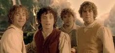 Pippin, Frodo, Sam and Merry
