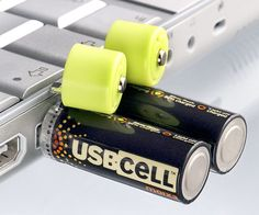 Recharge your batteries like never before with these innovative USB connecting rechargeable batteries. These easy to use rechargeable batteries pop their top and plug into your USB slot on your computer to get their electrical mojo re-supplied.